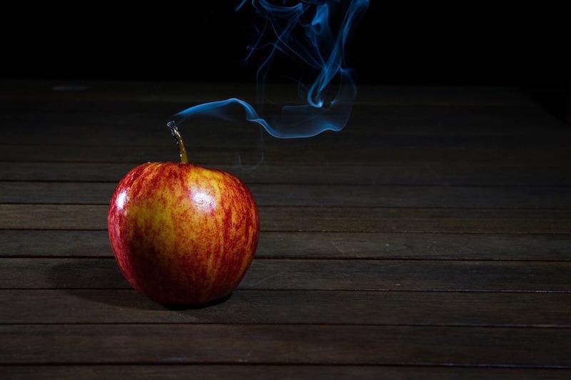 mela fumante