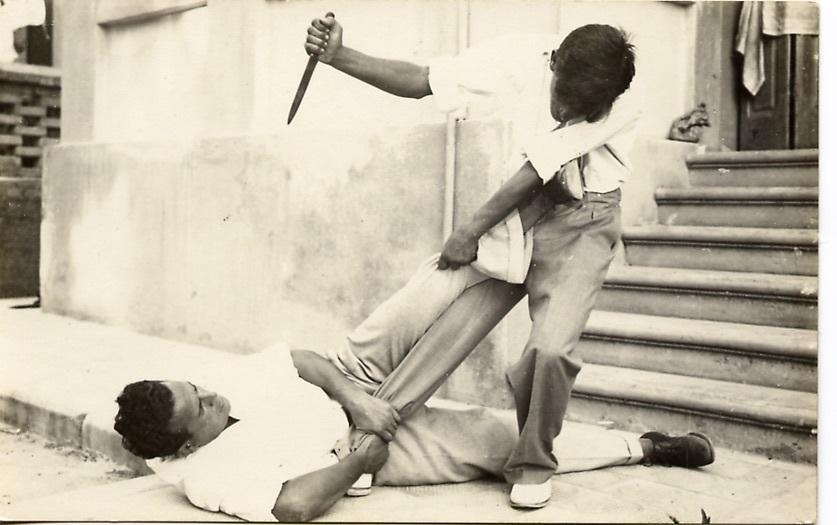 tecnica di difesa da attacco con coltello 2